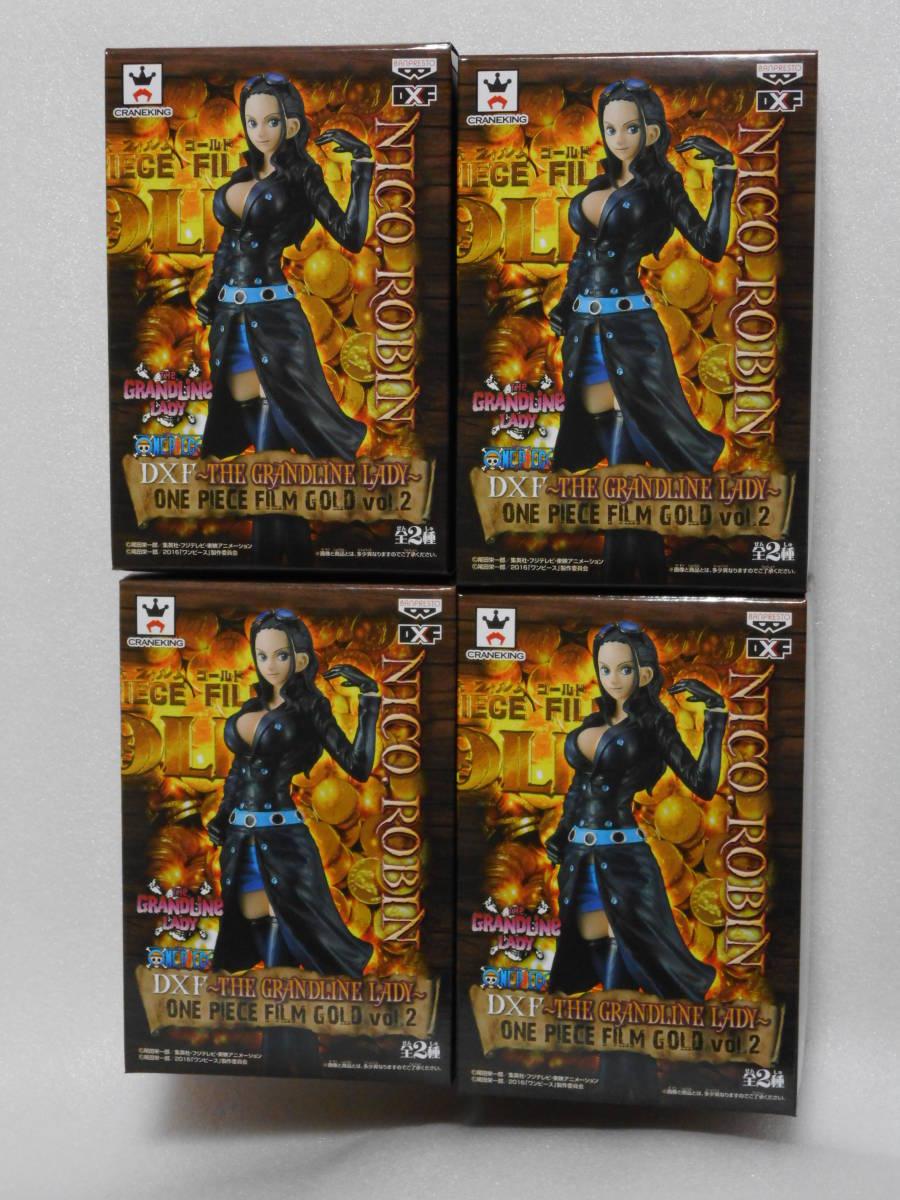 ワンピース フィギュア DXF THE GRANDLINE LADY FILM GOLD vol.2 ニコ・ロビン 4個セット 新品_画像1