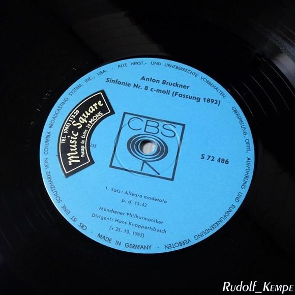 独CBS S72486/7 ブルックナー「交響曲第8番」 クナッパーツブッシュ ミュンヒェン・フィル_画像2