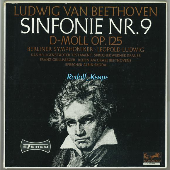 独Eurodisc S70379XK ベートーヴェン「第九」 レオポルト・ルートヴィヒ ベルリン響_画像1