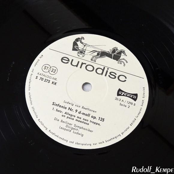 独Eurodisc S70379XK ベートーヴェン「第九」 レオポルト・ルートヴィヒ ベルリン響_画像2