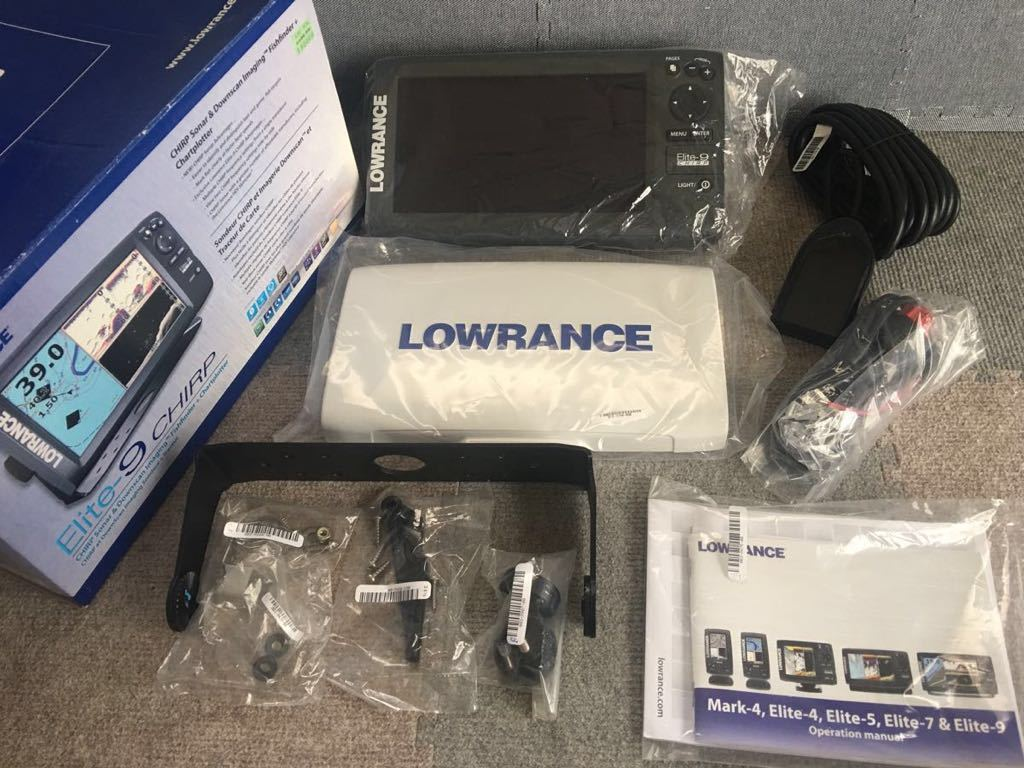 LOWRANCE /ローランス 魚群探知機 elite-9 chirp 振動子付き