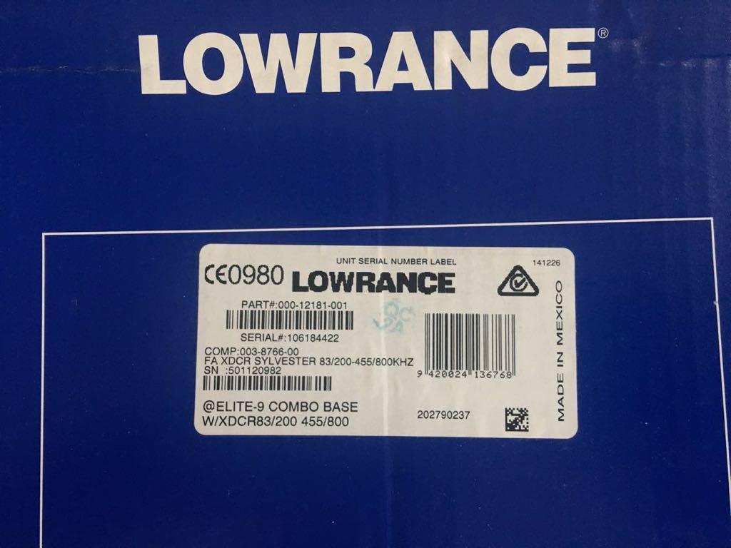 LOWRANCE /ローランス 魚群探知機 elite-9 chirp 振動子付き_画像3