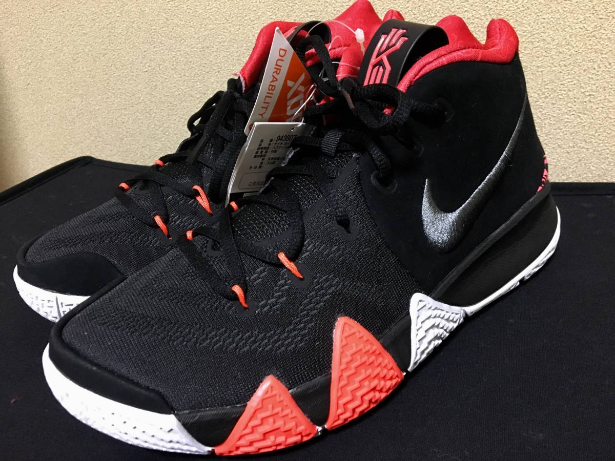 outlet store acd96 0593c new goods! prompt decision!Nike/Kyrie 4/Black/Dark Grey/Red ...