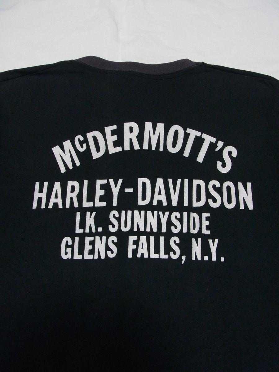 ☆ 70s ビンテージ HARLEY-DAVIDSON ハーレーダビッドソン MORE THAN A MACHINE イーグル Tシャツ ☆USA古着 2トーン 3D EMBLEM 80s OLD_画像5