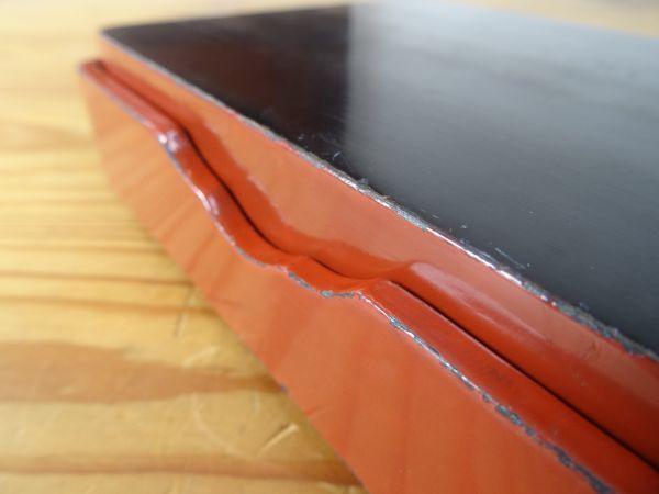 ビンテージレトロ オウムの絵が美しい漆塗りの古い裁縫箱 木製 約縦17.5×横13×高さ4.5cm 検索用⇒ 昭和レトロ/道具箱/筆箱/小物入れ_画像10
