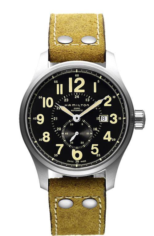 ハミルトン カーキオフィサーオート 44mm ビッグフェイス 自動巻 機械式時計 高級 腕時計