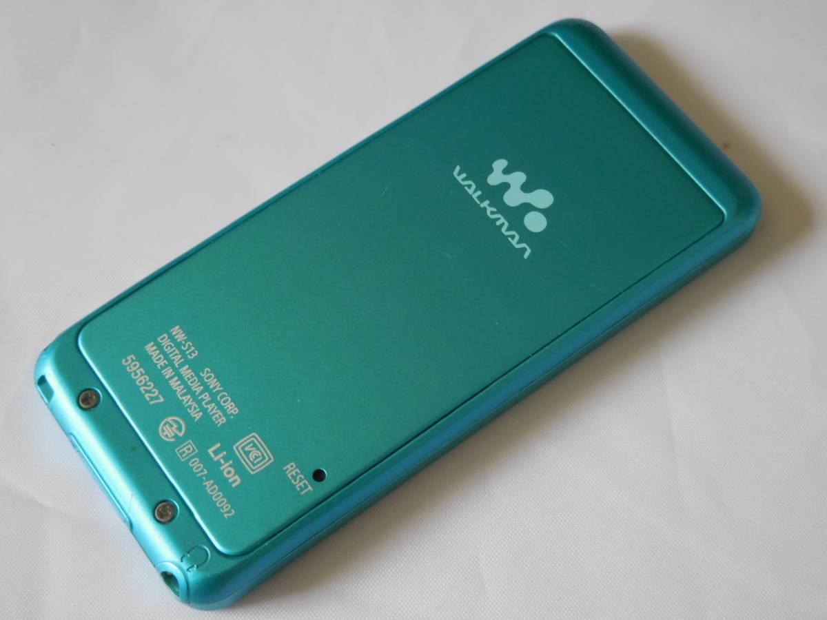 ☆訳あり☆ SONY ウォークマン NW-S13 ブルー Sシリーズ 4GB Bluetooth対応 送料無料_画像3
