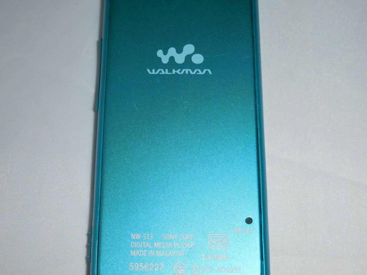 ☆訳あり☆ SONY ウォークマン NW-S13 ブルー Sシリーズ 4GB Bluetooth対応 送料無料_画像4