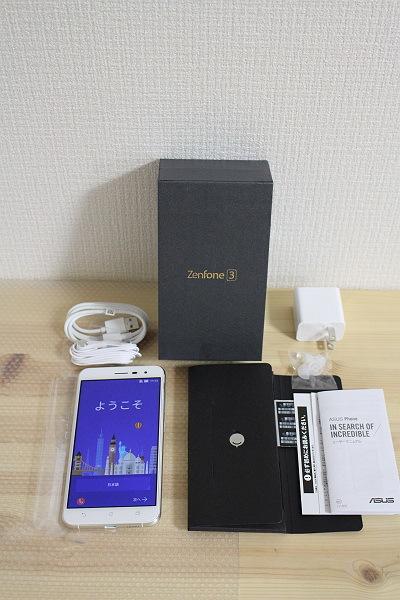 ★展示機!ASUS ZenFone 3 ZE552KL-WH64S4 SIMフリースマホ [ホワイト]★