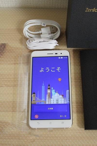 ★展示機!ASUS ZenFone 3 ZE552KL-WH64S4 SIMフリースマホ [ホワイト]★_画像2