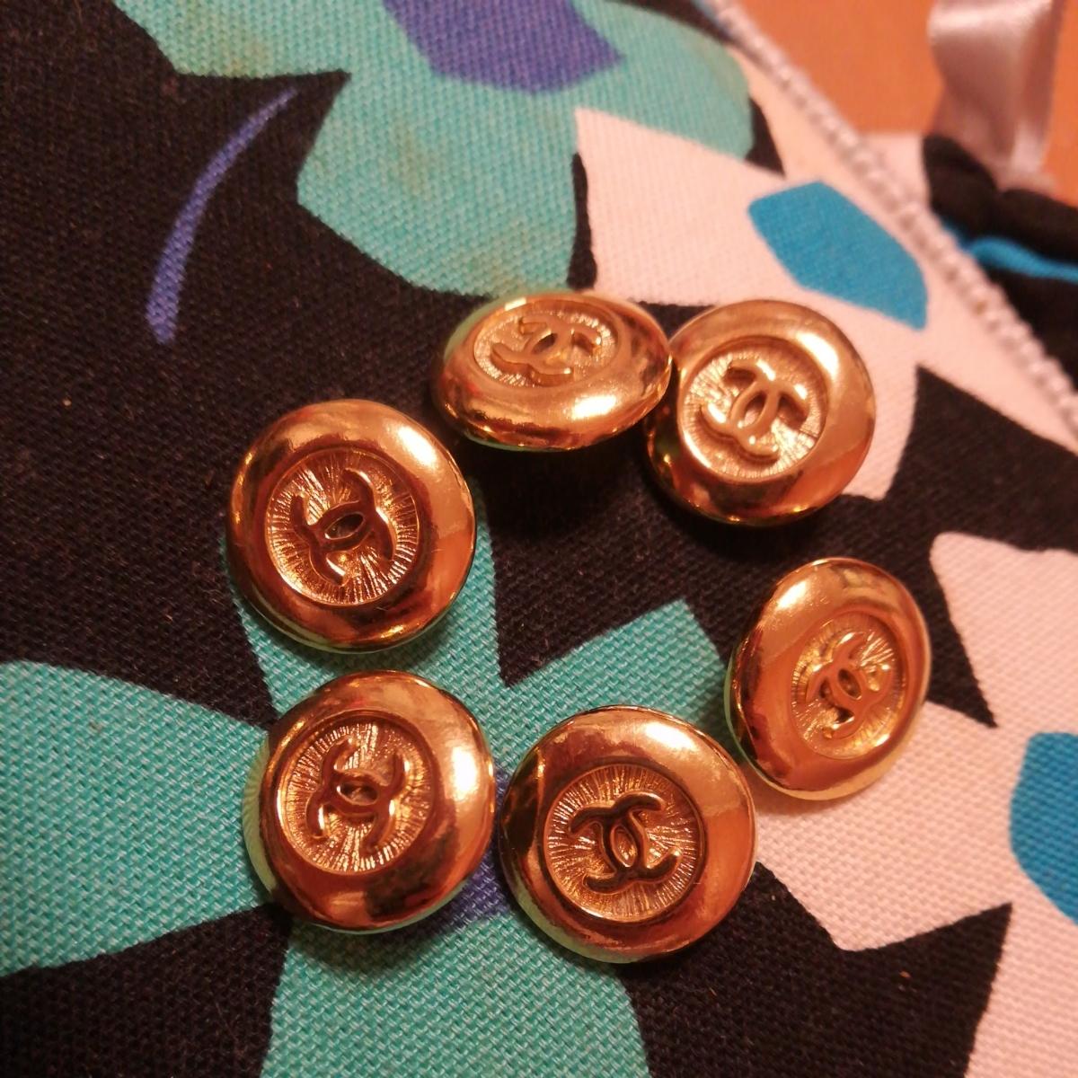 同梱可能 正規品chanel ゴールド ボタン 6個のセット 未使用 サイズ1.6cm