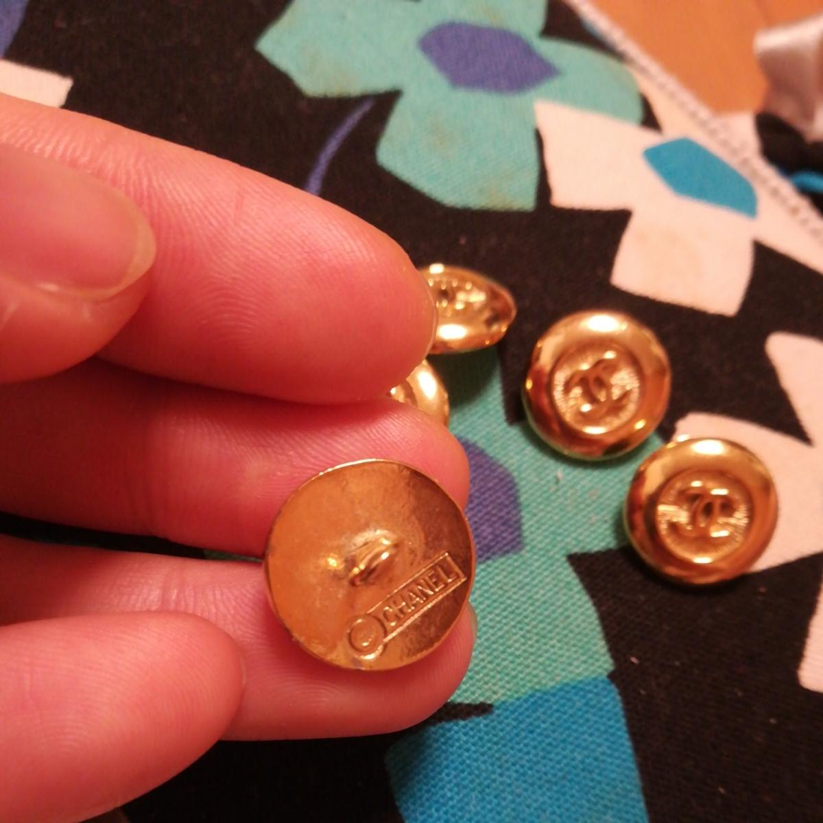 同梱可能 正規品chanel ゴールド ボタン 6個のセット 未使用 サイズ1.6cm_画像3