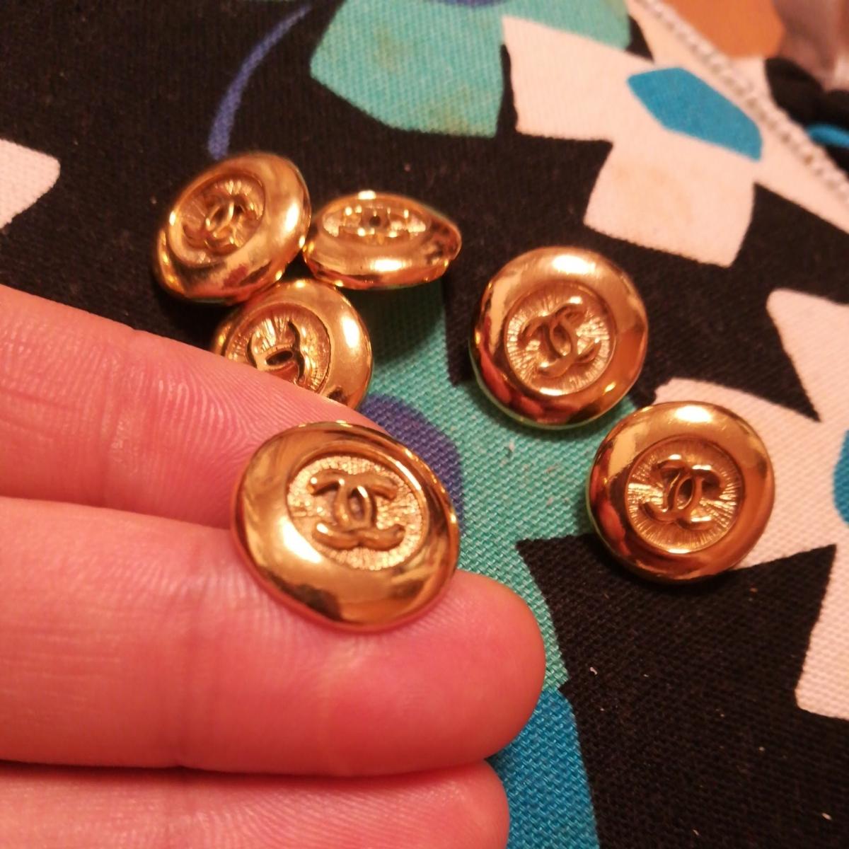 同梱可能 正規品chanel ゴールド ボタン 6個のセット 未使用 サイズ1.6cm_画像2