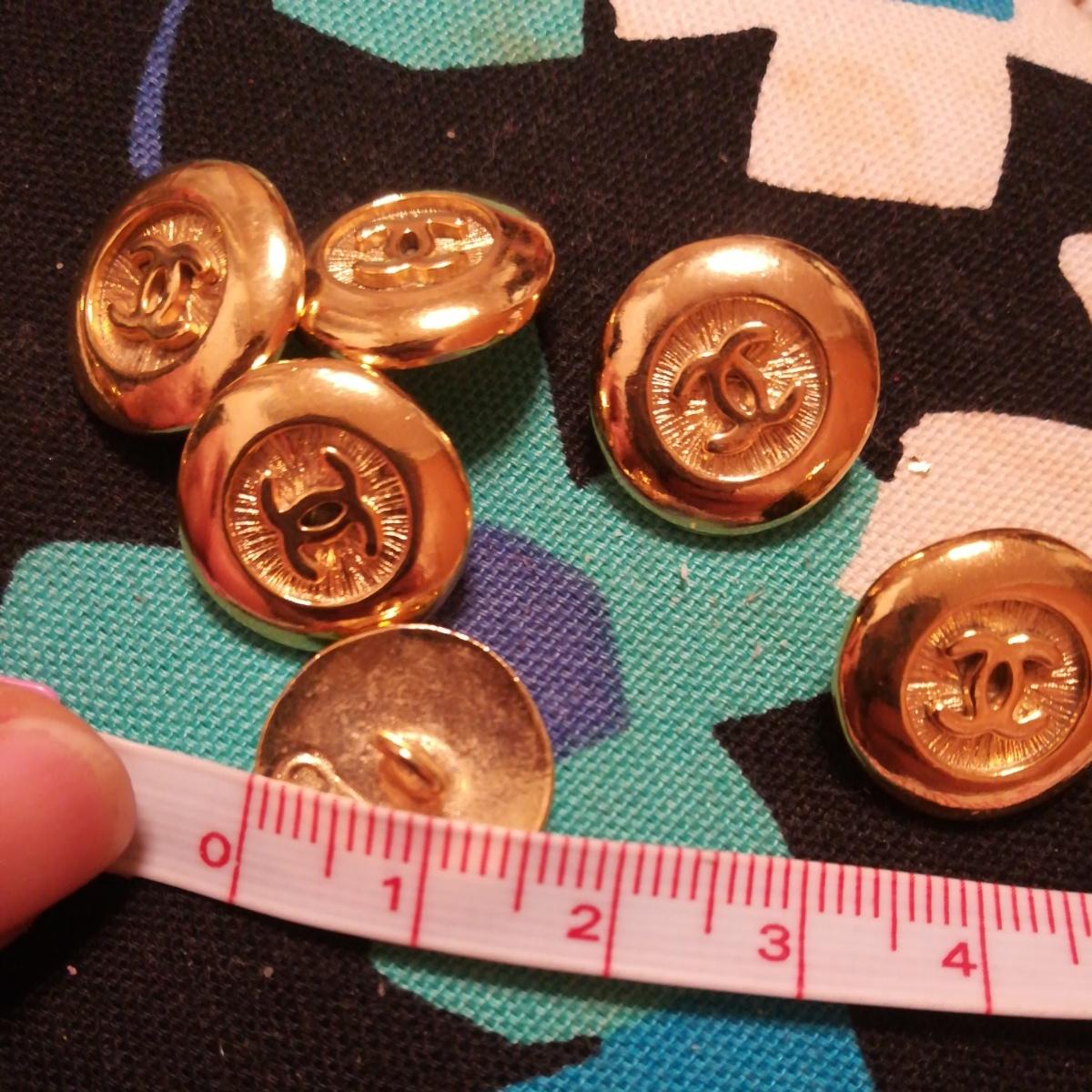 同梱可能 正規品chanel ゴールド ボタン 6個のセット 未使用 サイズ1.6cm_画像4