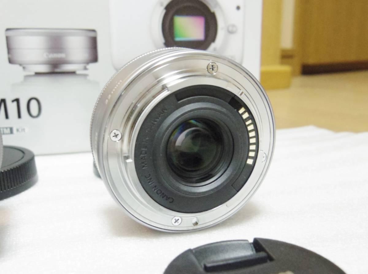 メーカー保証付き 展示商品 CANON EOS M10 ダブルズームキット [ホワイト]EF-M15-45mm F3.5-6.3 IS STM EF-M22mm F2 STM_画像8