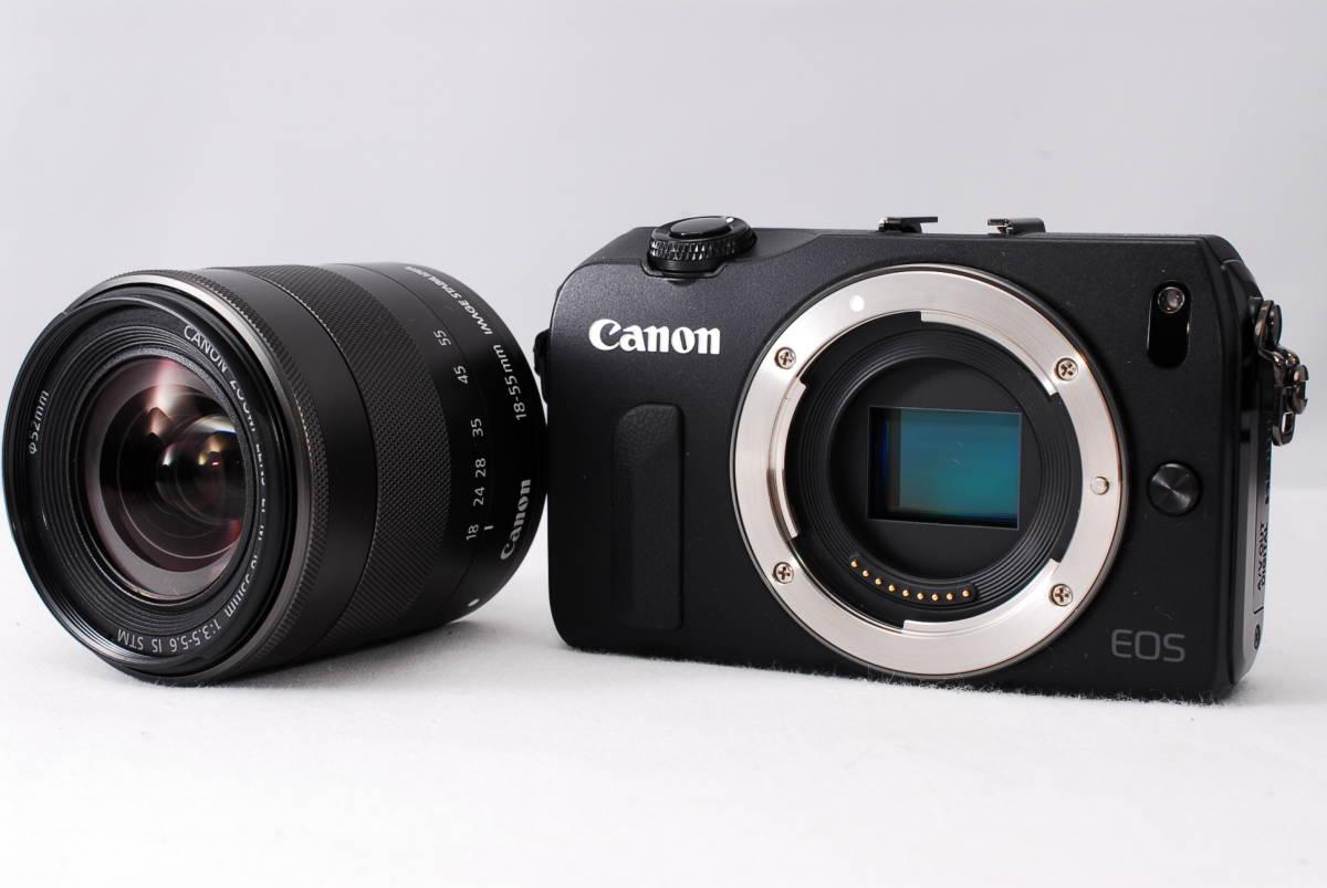 ★新品級★Canon キヤノン EOS M EF-S 18-55mm STM レンズセット!! 16G SDカードつき 届いたその日から撮影可能です!!_画像2