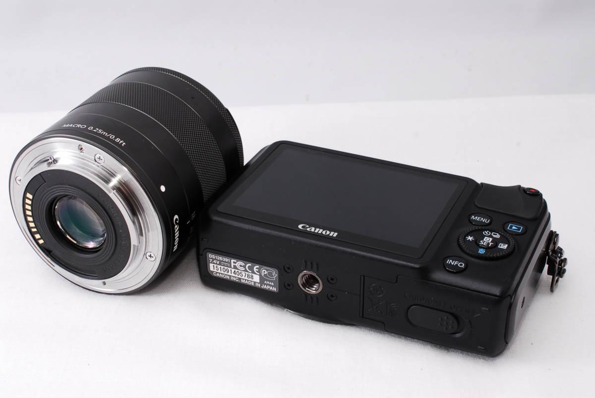 ★新品級★Canon キヤノン EOS M EF-S 18-55mm STM レンズセット!! 16G SDカードつき 届いたその日から撮影可能です!!_画像3