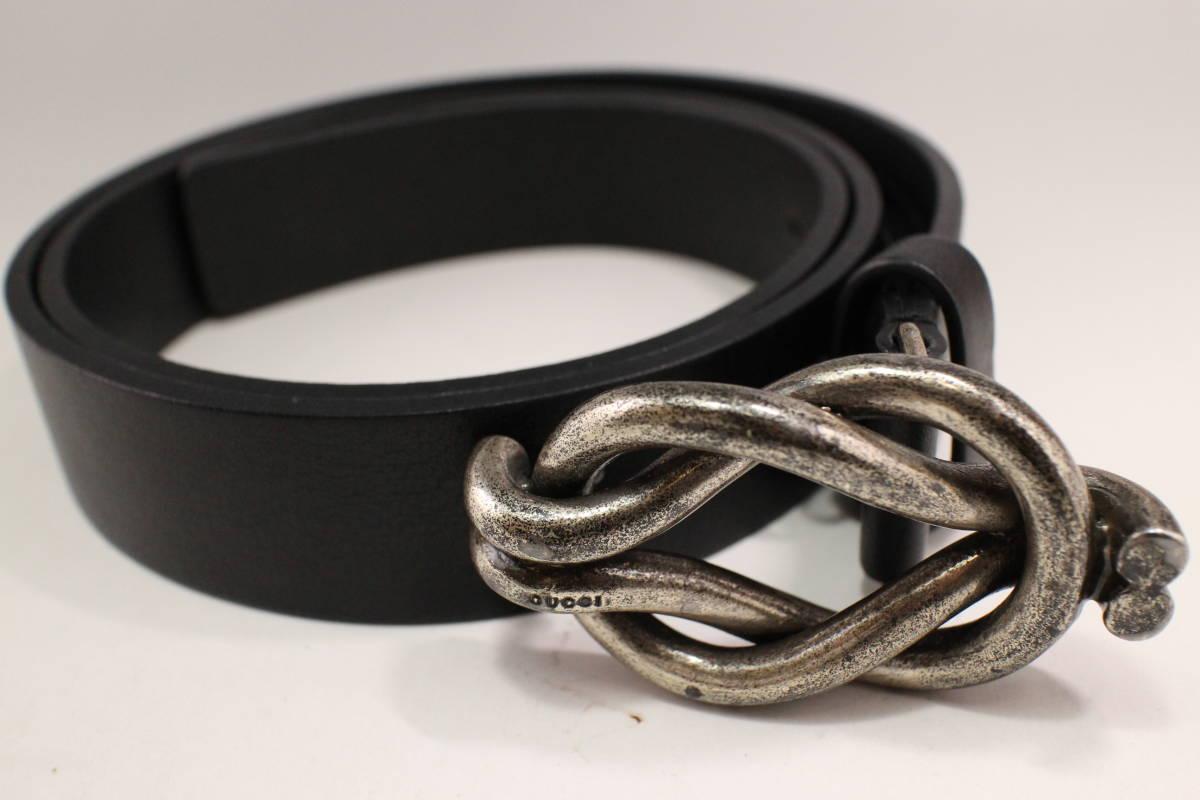 5b9ec14bdb7 1 jpy ~  Gucci  GUCCI genuine article   belt  163502  black   silver ...