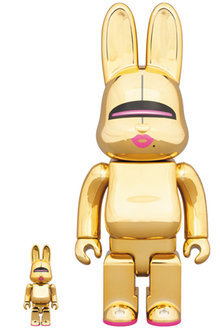 SORAYAMA SEXY ROBOT GOLD R@BBRICK 100% & 400% 2体セット 空山基 ベアブリック BE@RBRICK medicom toy