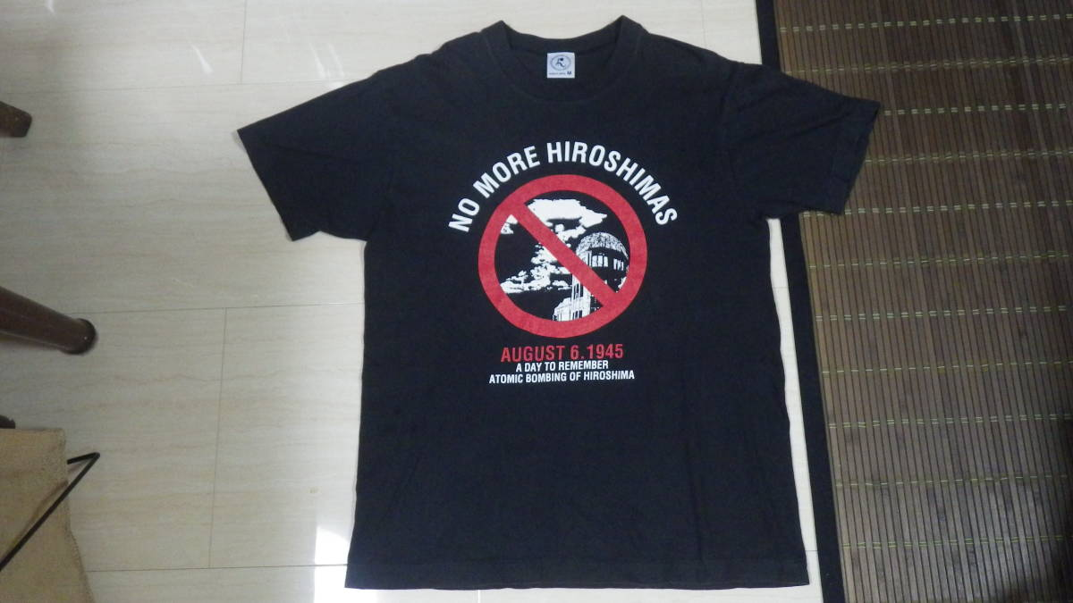 原爆tシャツ 90s 原子爆弾 Tシャツ 日本製 黒 M 送185円 ビンテージ vintage ブラック 原爆