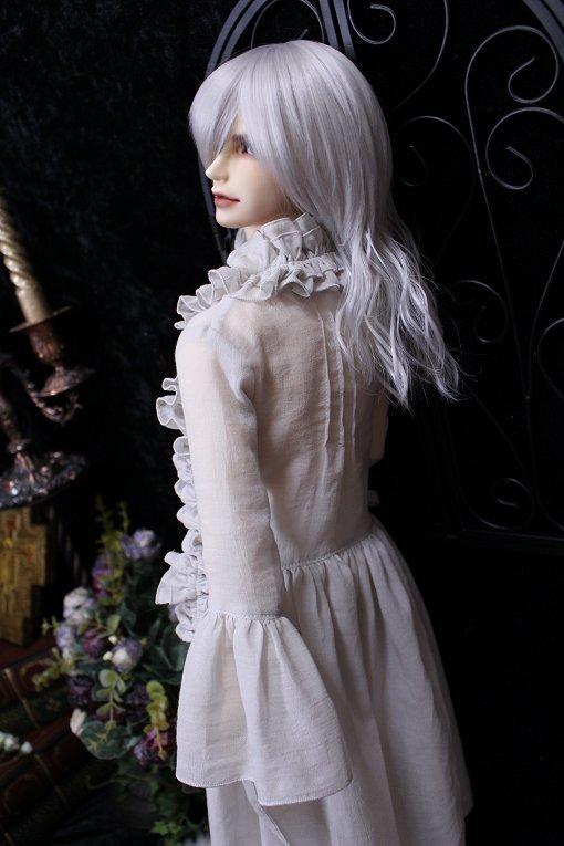 ◆月の宵宮◆SD17B◆ロングカシュクールドレス◆グレイッシュアイボリー◆_画像3