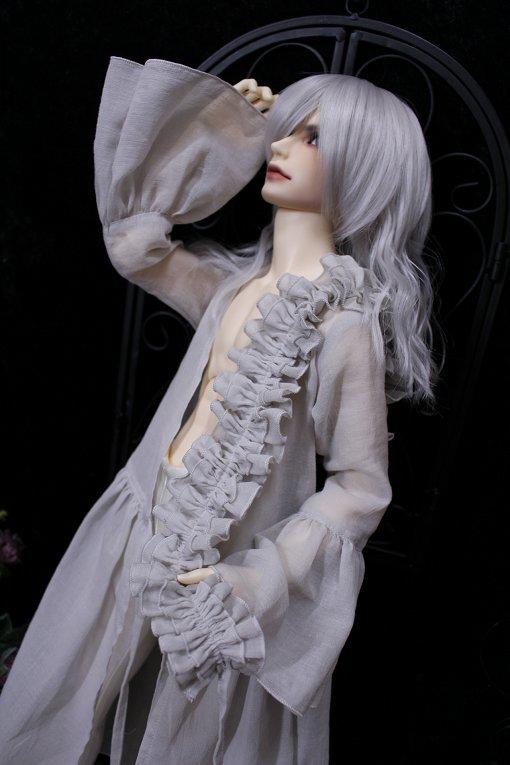 ◆月の宵宮◆SD17B◆ロングカシュクールドレス◆グレイッシュアイボリー◆_画像5