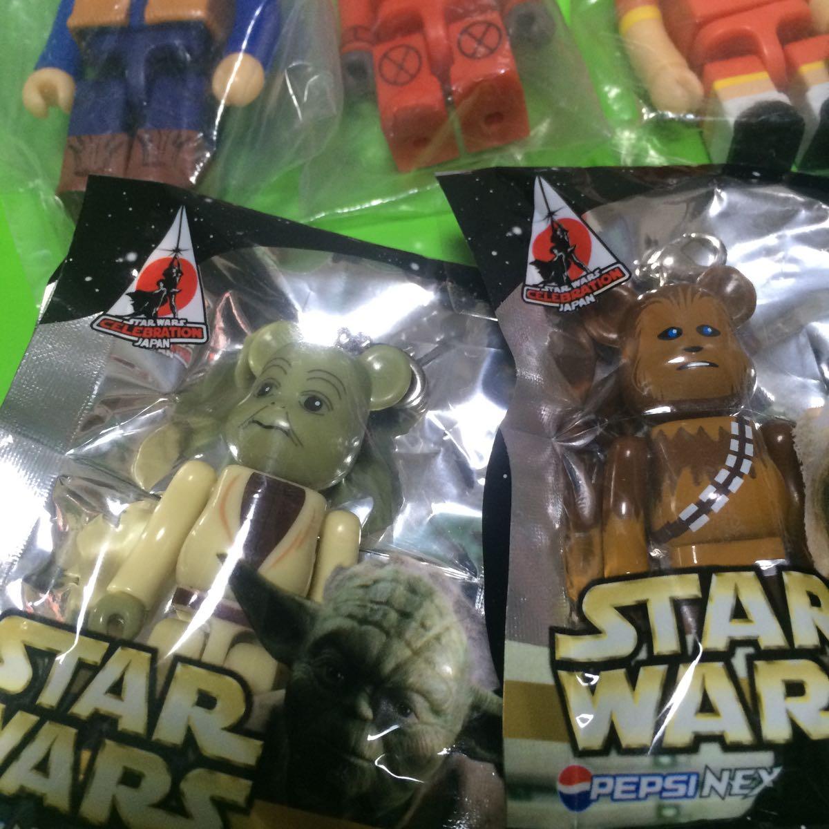ペプシ ベアブリック BE@RBRICK スターウォーズ (R2-D2 チューバッカ ヨーダ) 3種/ KUBRICK キューブリック グリコビスコ(3種)_画像3