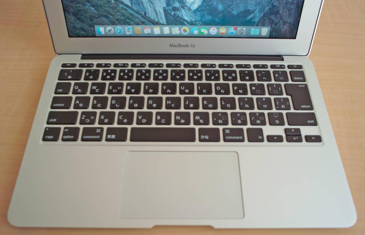 美品!MacBookAir(11-inch,Mid 2012) 1.7GHz intel Core i5 5GB SSD60GB 充放電少 + おまけUSB_画像3