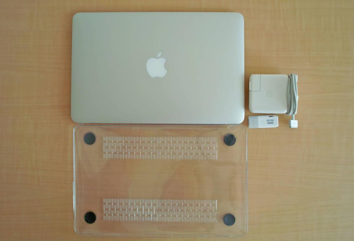 美品!MacBookAir(11-inch,Mid 2012) 1.7GHz intel Core i5 5GB SSD60GB 充放電少 + おまけUSB_画像6