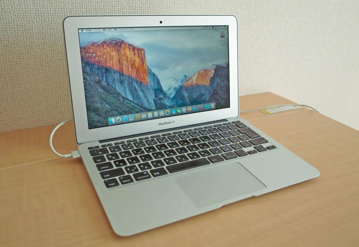 美品!MacBookAir(11-inch,Mid 2012) 1.7GHz intel Core i5 5GB SSD60GB 充放電少 + おまけUSB