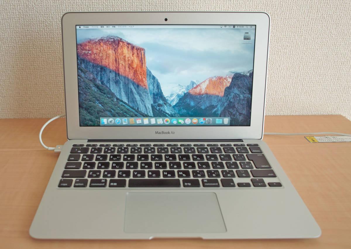 美品!MacBookAir(11-inch,Mid 2012) 1.7GHz intel Core i5 5GB SSD60GB 充放電少 + おまけUSB_画像2