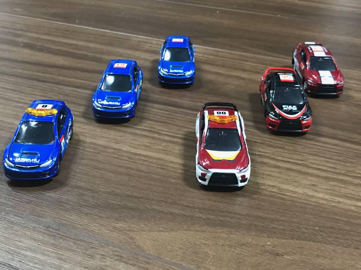 トミカ ラリーカー コレクション JAPAN 6種フルコンプ ランサーエボリューションX インプレッサWRX STI_画像8
