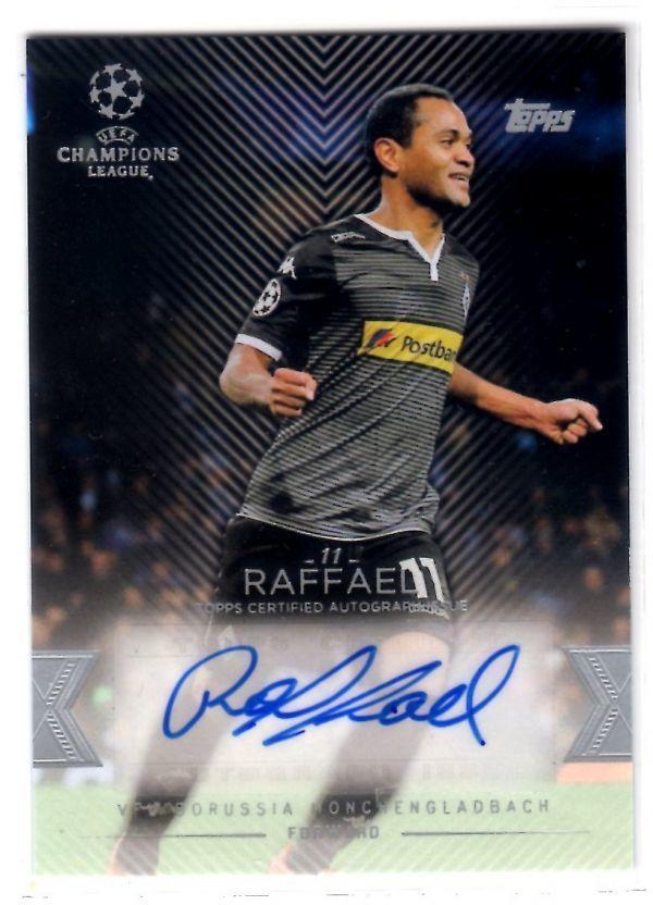 Raffael (ラファエウ) 2016 Topps UEFA Champions League Showcase Base Autograph 直筆サインカード ボルシア・メンヒェングラートバッハ_画像1