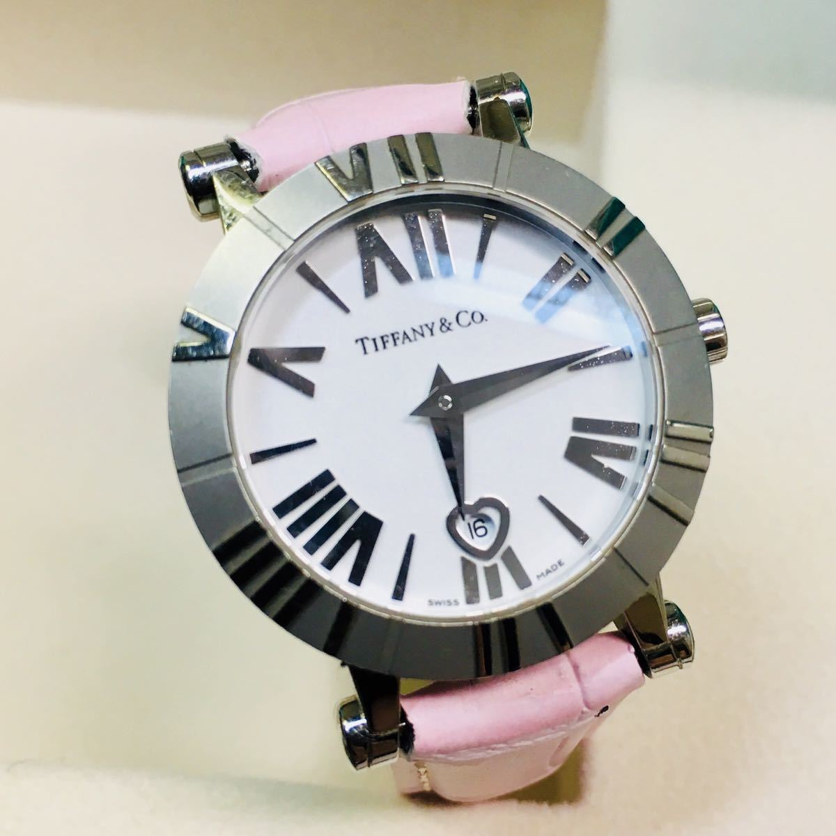 buy online a4293 9294c 美品 正規品】ティファニー 腕時計 アトラス ドーム ピンク ...