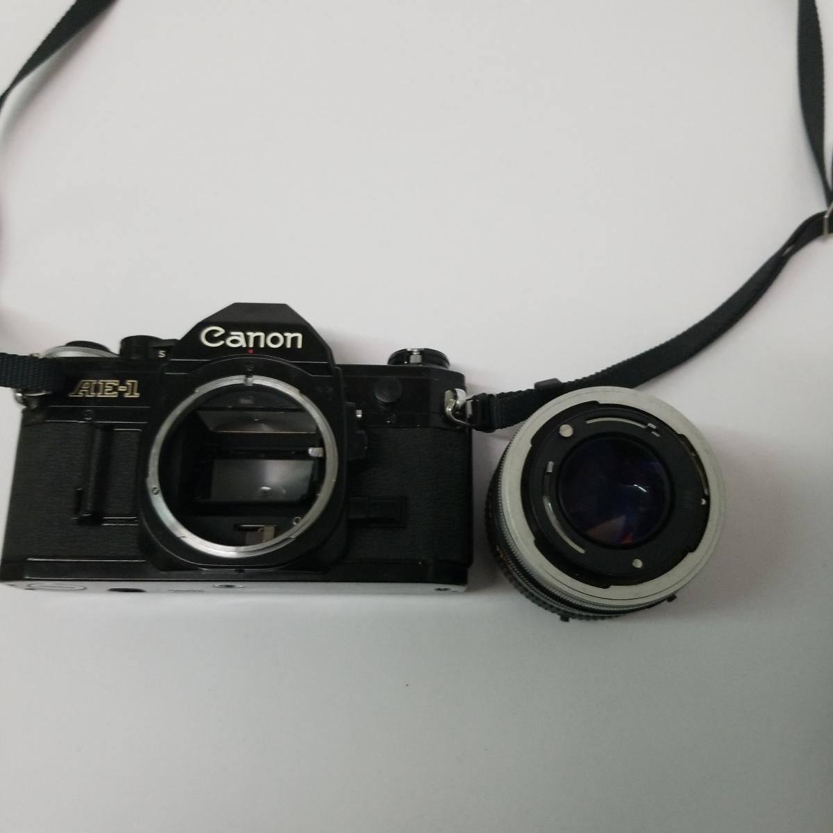 キヤノン Canon AE-1 一眼レフカメラ LENS 50mm 1:1.4 S.S.C. キャノン CANON ズームレンズ FD 100-200mm 1:5.6 S.C_画像3