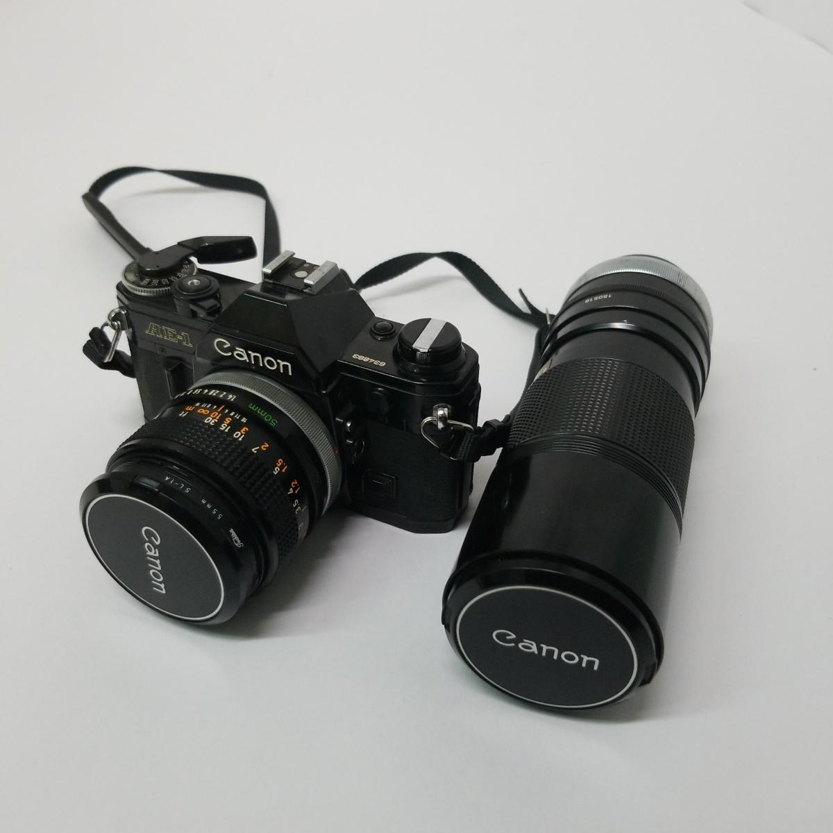 キヤノン Canon AE-1 一眼レフカメラ LENS 50mm 1:1.4 S.S.C. キャノン CANON ズームレンズ FD 100-200mm 1:5.6 S.C_画像1
