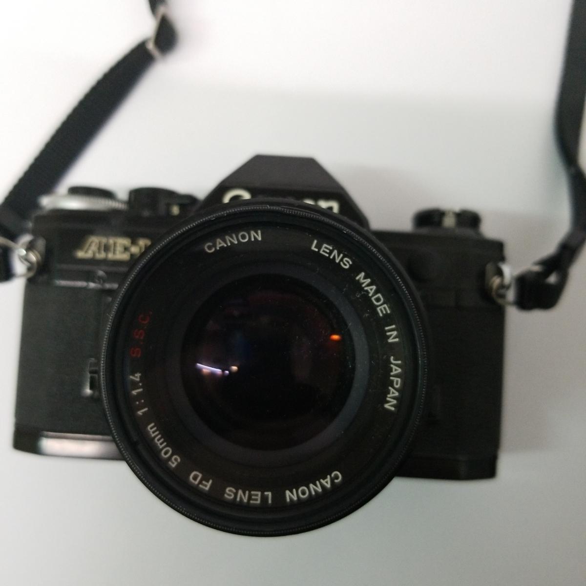 キヤノン Canon AE-1 一眼レフカメラ LENS 50mm 1:1.4 S.S.C. キャノン CANON ズームレンズ FD 100-200mm 1:5.6 S.C_画像2