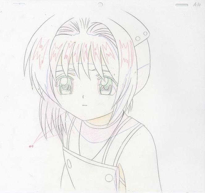 カードキャプターさくら 木之本桜 セル画 動画 直筆背景付き セット_画像2
