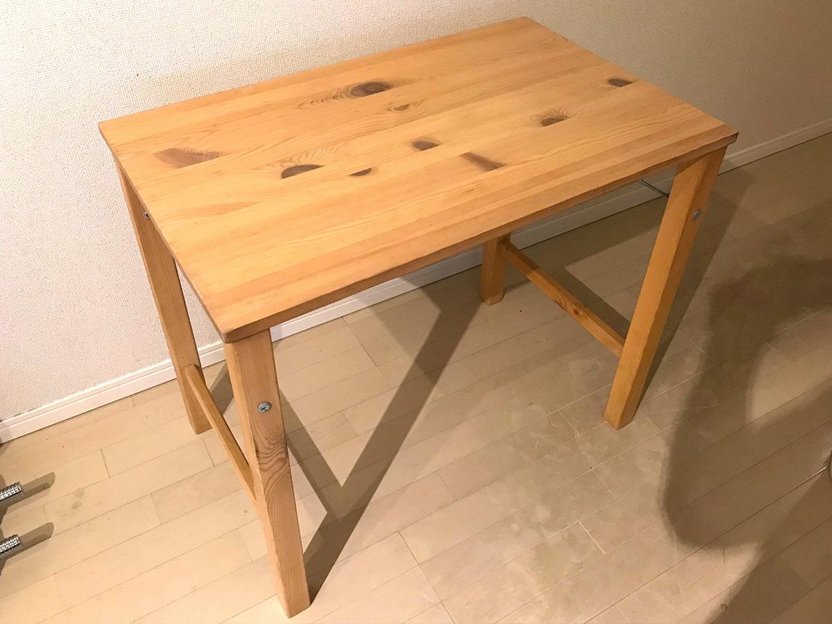 無印 パイン材テーブルの情報