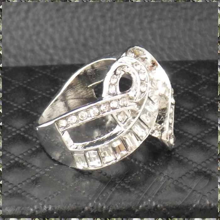 [RING] Silver Infinity Cross Crystal Heart シルバー インフィニティー クロス クリスタルCZ ハート デザイン リング 16号_画像5