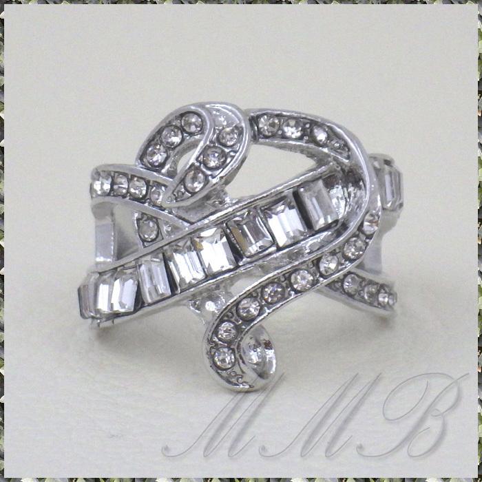[RING] Silver Infinity Cross Crystal Heart シルバー インフィニティー クロス クリスタルCZ ハート デザイン リング 16号_画像7
