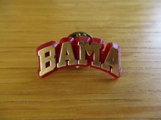 80s ビンテージ 「BAMA」アラバマ 大学 カレッジ ロゴ ピンバッジ /ピンズ カスタム USA アメリカ アメカジ デッドストック 80s 70s_画像1