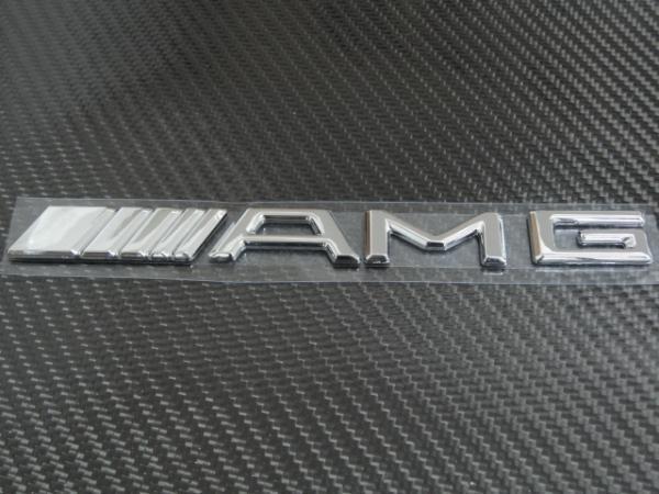 ●メルセデス・ベンツ AMGクロームメッキエンブレム/リアトランクエンブレム/W117/W176/W245/W222/W210/W204/W203/W209/W208/W202/R171/SL_画像2