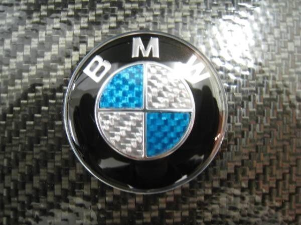 ●BMW ブルー/シルバーカーボンハンドルエンブレム/ステアリングバッチ/F22 F26 F80 F82 F84 F07 F10 F11 F30 F31 F32 F33 F34 F36 F25X3_画像3