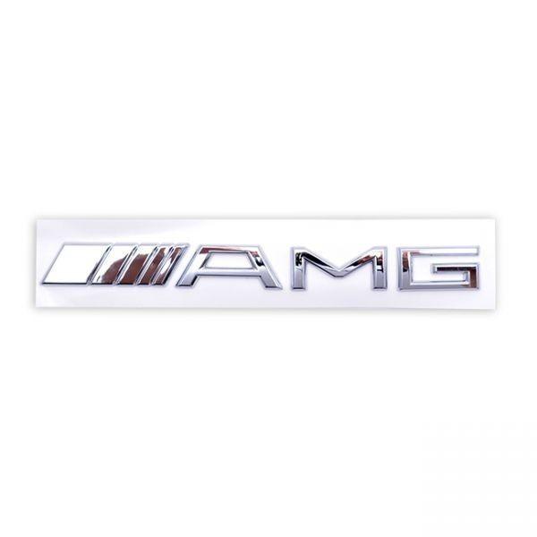 ●メルセデス・ベンツ AMGクロームメッキエンブレム/リアトランクエンブレム/W117/W176/W245/W222/W210/W204/W203/W209/W208/W202/R171/SL_画像1