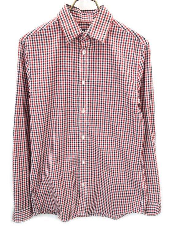 7ec060f7896b2b mail service possible H&M H & M check long sleeve shirt S red black white  super-discount [180723][ men's ]mls1285