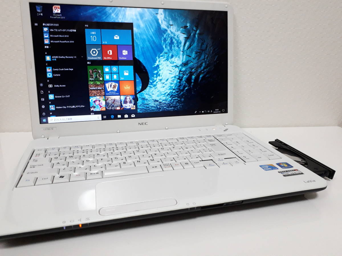 【最新Windows10☆爆速SSHD仕様☆8GBメモリ】NEC☆Lavie Core i5☆ほぼ新品SSHD500GB(高速SSD内臓)☆DVD/HDMI/Wi-Fi☆Office(Word Excel)☆_画像2