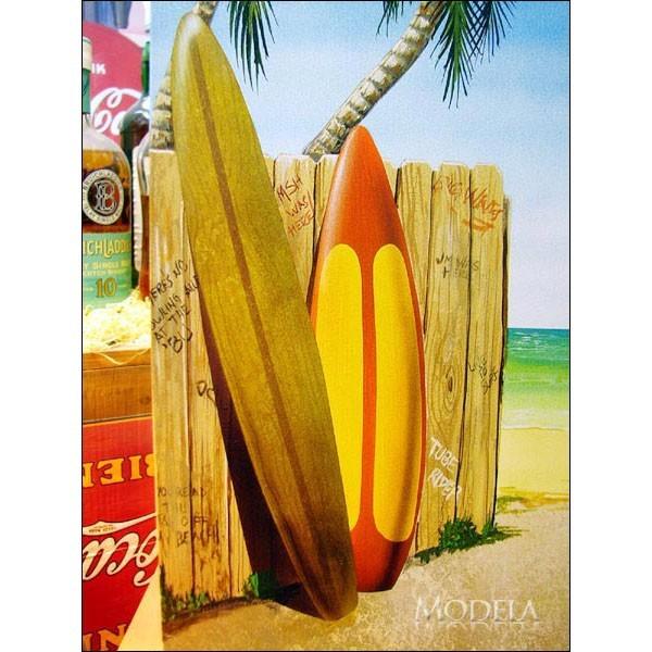 アメリカンブリキ看板 浜辺のオールドカー【1147】sign_sports_サイズ:長辺41cm×短辺32cm(約)