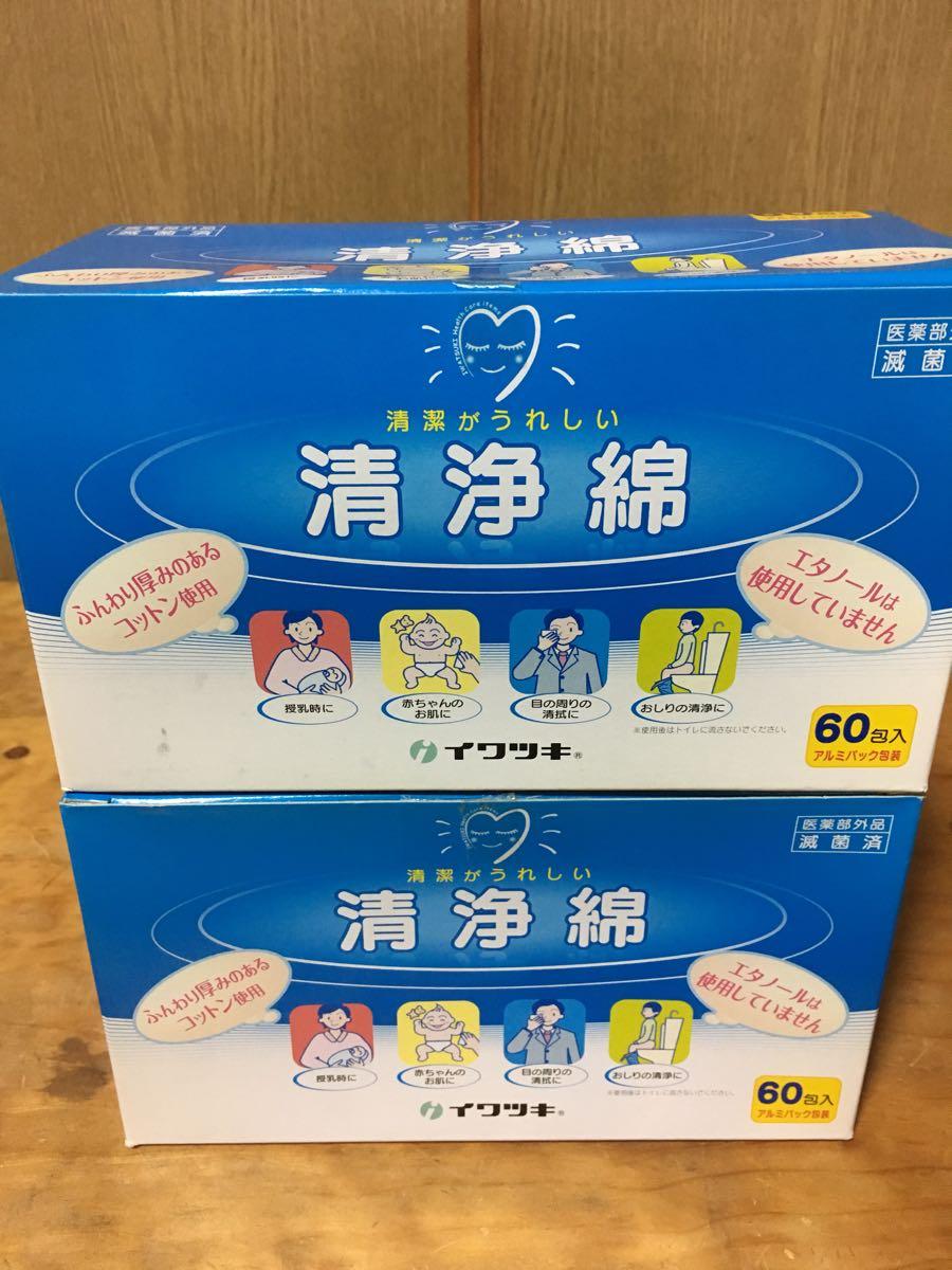 イワツキ 清浄綿 60包×2ケース 新品未使用 閉店セール 売り切り 1円から206