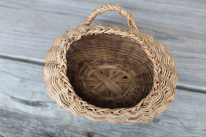 【山蔓 花籠 2個】編み 花器 花入 古民具 古道具_画像3